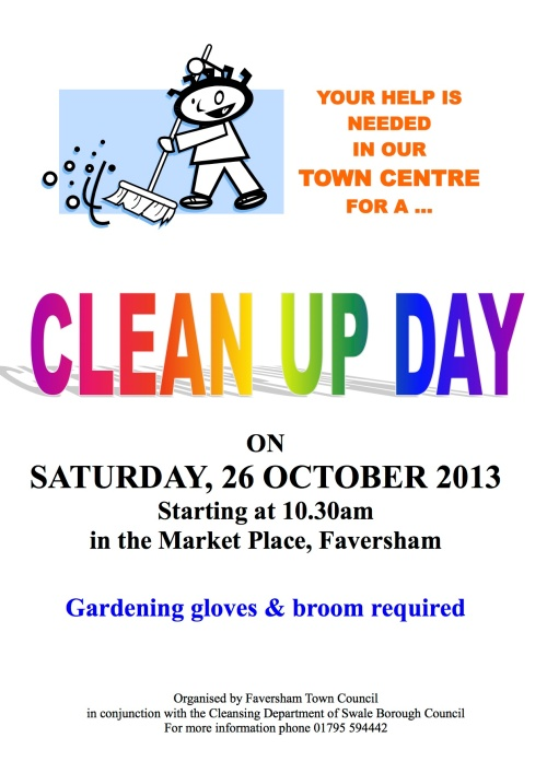 Cleanupday Poster 26 Oct13